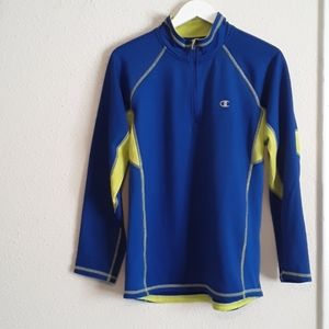 CHAMPION Blue & Neon Green/Yellow Pullover